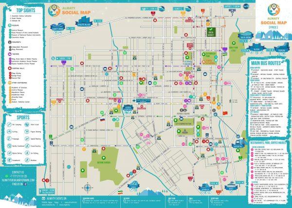 Туристическая карта Алма-Аты