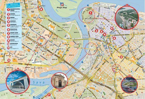 Туристическая карта Белграда