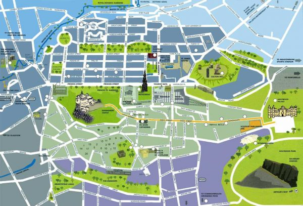 Туристическая карта Эдинбурга