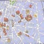 Туристическая карта с отмеченными на ней достопримечательностями Болоньи
