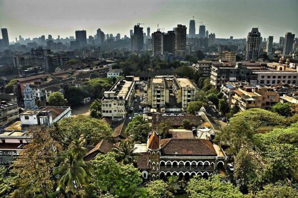 Вид Мумбая сверху
