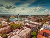 Вид с высоты на Ростов-на-Дону