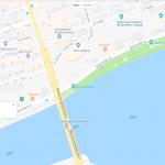 Ворошиловский мост на карте Ростова-на-Дону
