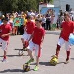 Вступление юных футболистов