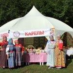 Палатка с выставкой «Карелы»