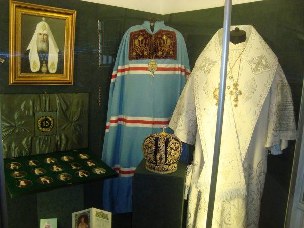 Экспонаты из музея Русского патриаршества