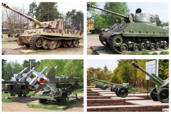 Экспонаты в Ленино-Снегирёвском музее