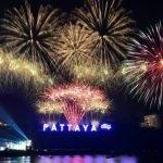 Фейерверки над побережьем Паттайи
