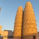 Две голубиные башни на территории Katara Village