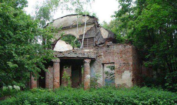 Развалины основного дома в усадьбе Троицких