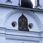 Изразцовая икона на стене Успенского собора