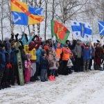 Построение участников на празднике «День снега»