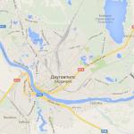 Карта Даугавпилса на карте Даугавпилсского края