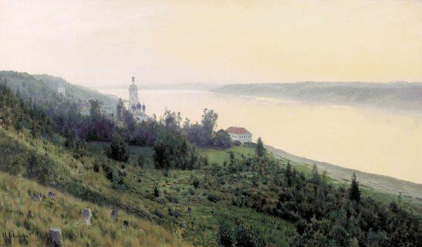 Картина Левитана «Вечер. Золотой Плёс»