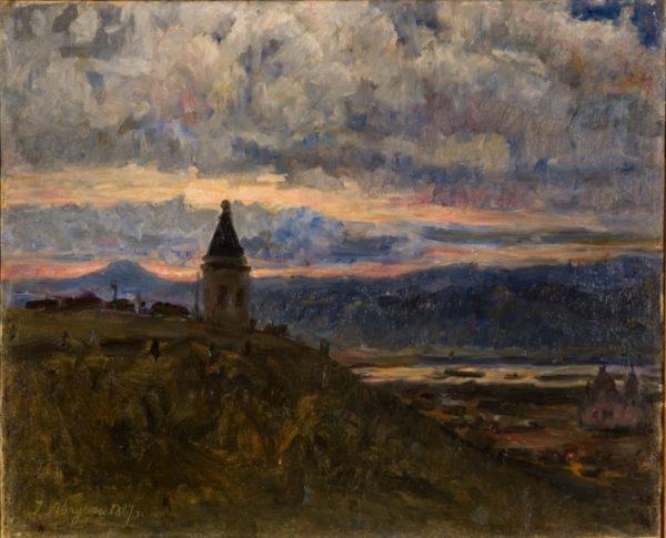Картина Сурикова с видом часовни Параскевы Пятницы
