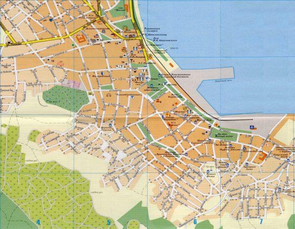 Туристическая карта Феодосии