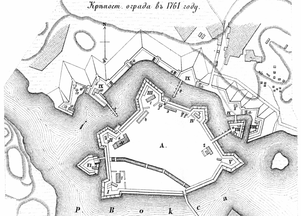 Крепость Корела в 1761 году