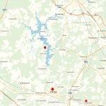 Истринское водохранилище на карте