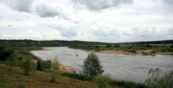 Изгиб Оки в деревне Похвиснево