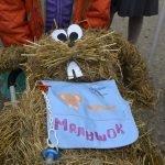 Поделка из соломы на детском фестивале в Тарусе