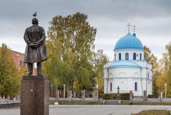 Площадь Ленина в Приозёрске