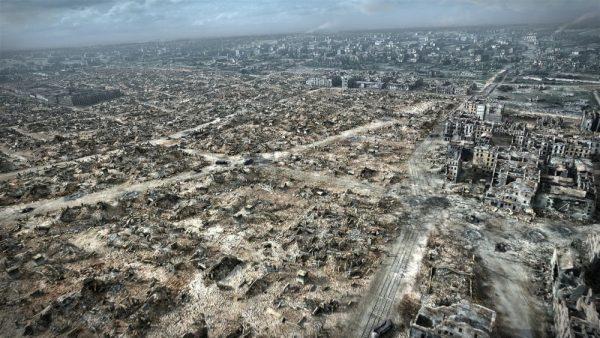 Послевоенные руины Варшавы