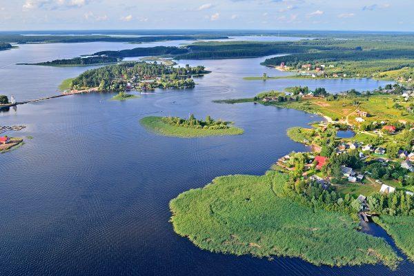 Озеро Селигер с высоты птичьего полёта