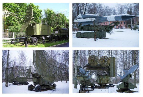 Экспозиция авиационной и ракетной техники в Ржевском музее ПВО