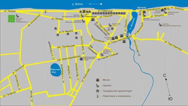 Туристическая карта Плёса