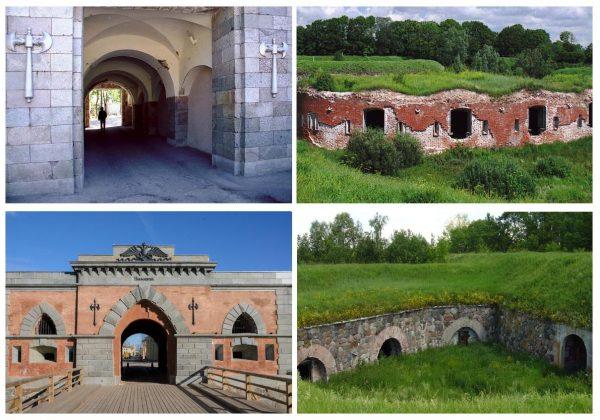 Николаевские и Михайловские ворота, редюит и куртин-люнет Динабургской крепости
