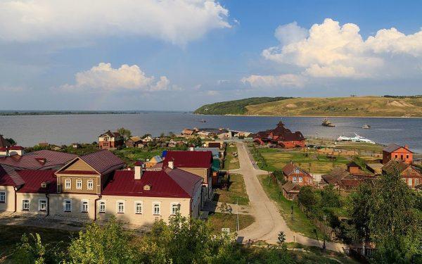 Вид на реку с острова Свияжск
