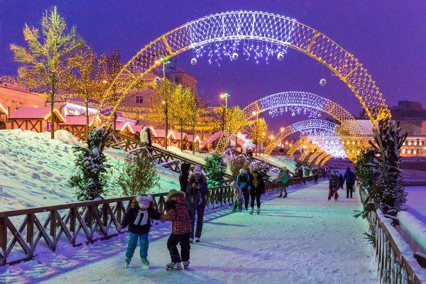 Кремлёвская набережная зимой