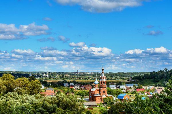 Вид на Боровск сверху
