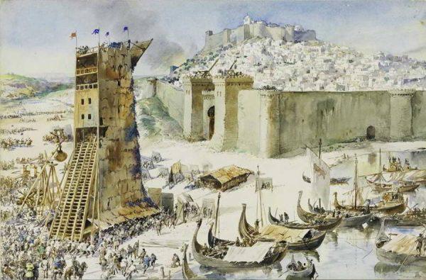 Картина Рокэ Гамейро «Штурм крепости Лиссабона»