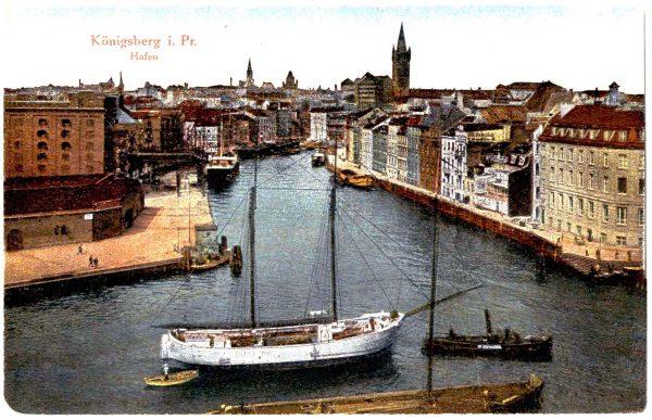 Архивная открытка с видом Кёнигсберга