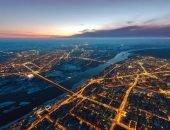 Ночной Новосибирск с высоты