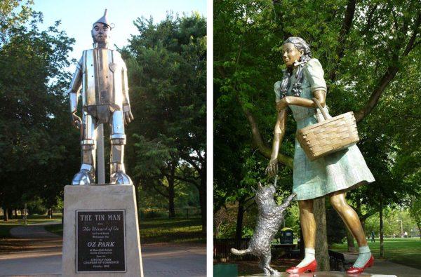 Скульптуры в Oz Park
