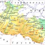Карта Кабардино-Балкарии с горами