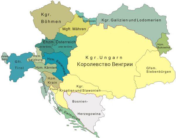 Королевство Венгрии в 11 веке на карте Европы