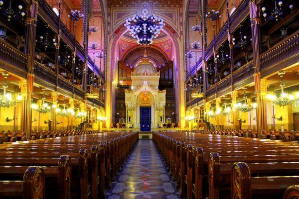Интерьер Большой синагоги в Будапеште