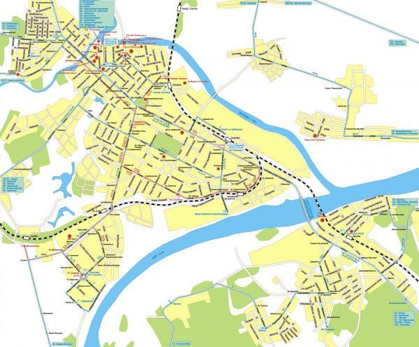 Туристическая карта Коломны