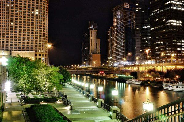 Прогулка по набережной Чикаго