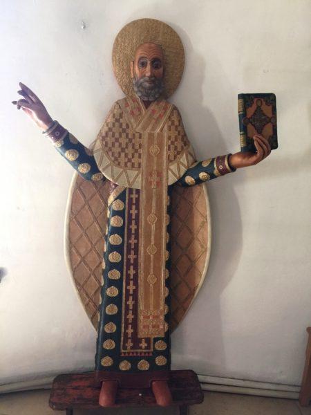 Резной образ Николая архиепископа Мир Ликийских
