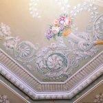 Роспись потолков в Каминной комнате
