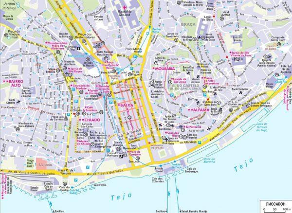 Туристическая карта Лиссабона