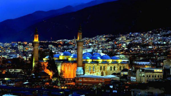 Город Бурса в Турции