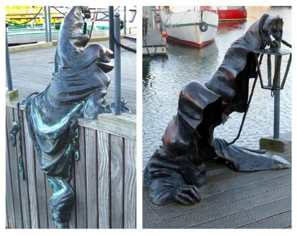 Скульптура «Чёрное привидение» в Клайпеде