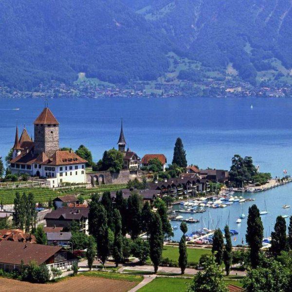 Вид на часть города Женева