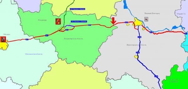 Карта дороги M-7