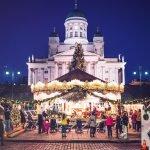 Новогодняя ёлка на Сенатской площади Хельсинки